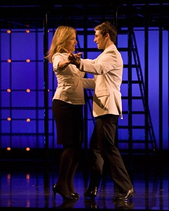 "Alice Ripley and Curt Hansen in the national touring production of ""Next to Normal."" Photo by Craig Schwartz."