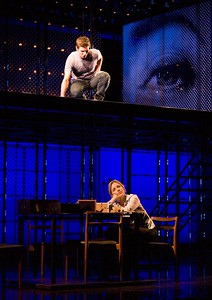 "Curt Hansen and Alice Ripley in the national touring production of ""Next to Normal."" Photo by Craig Schwartz."