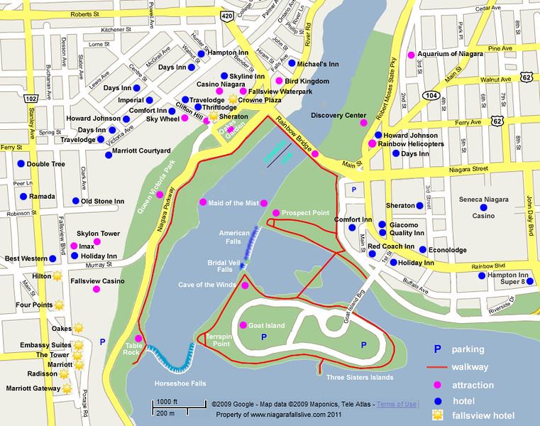 Niagara falls state park new york january 2015 hikenhi map publicscrutiny Choice Image