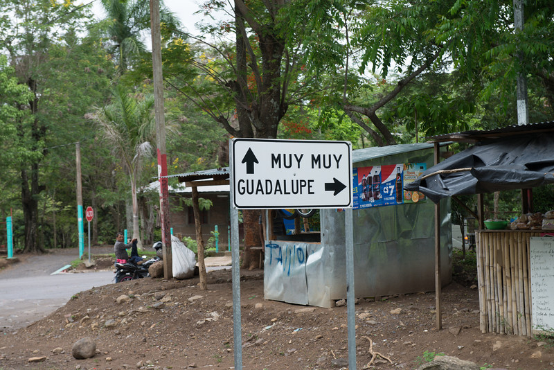The turnoff to Guadulpe Arriba, the community in which we worked.