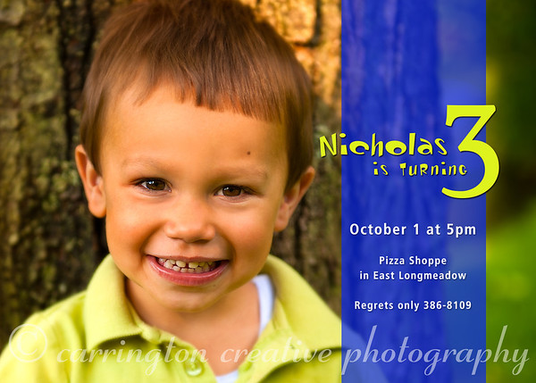 Nicholas's Birthday Invite