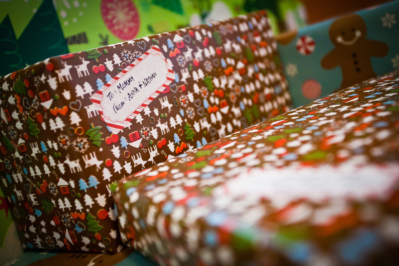 351/365 - December 21, 2012 - Christmas Gifts <br /> <br /> Today I left work a couple of hours early to take advantage of Lisa and the kids being away from the house so I could wrap Lisa's Christmas gifts.
