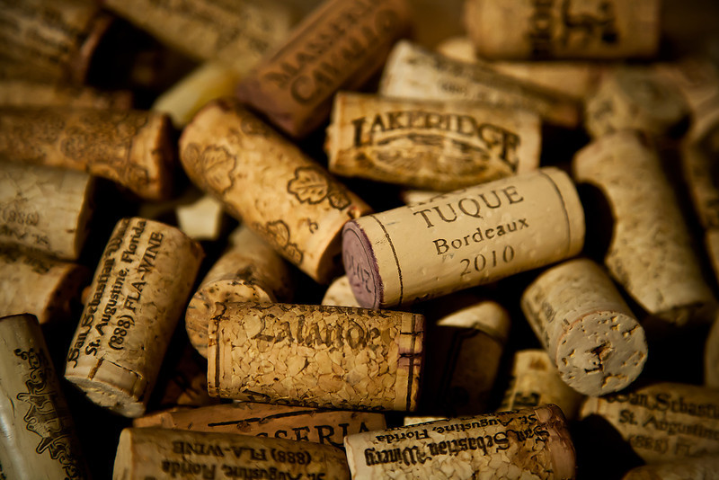 68/365 - March 13, 2012 - Corked <br /> <br /> Tonight I was scrambling for some motivation, and I found it with our cork basket we keep on the counter in the kitchen.  We have kept the majority of the corks from the few wine bottles we have consumed over the years.  This is just a simple close up of the pile.