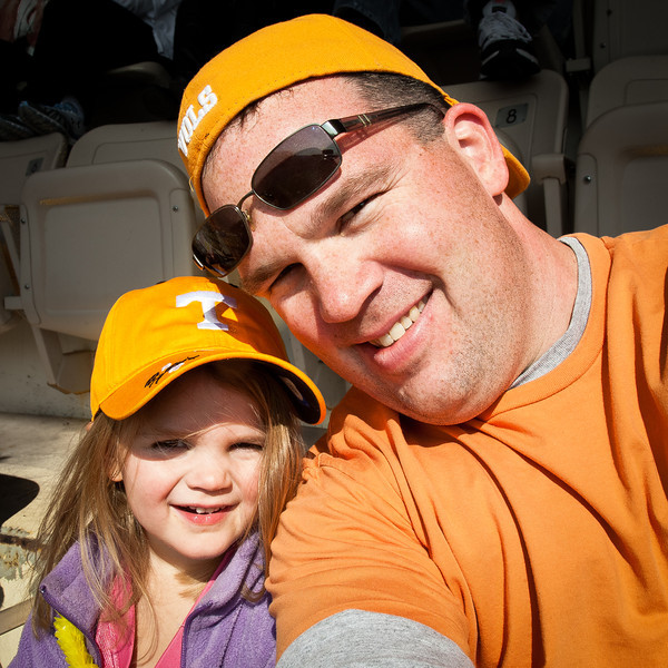 303/365 - November 3, 2012 - Football Game with Anna <br /> <br /> Today with Lisa home sick (either from the sushi or a stomach bug that has been going around), I took Anna with me to the Tennessee-Troy football game.  The game was a little subpar, even though Tennessee won (close game, but should have won much bigger).  However, having Anna with me made for a special day.