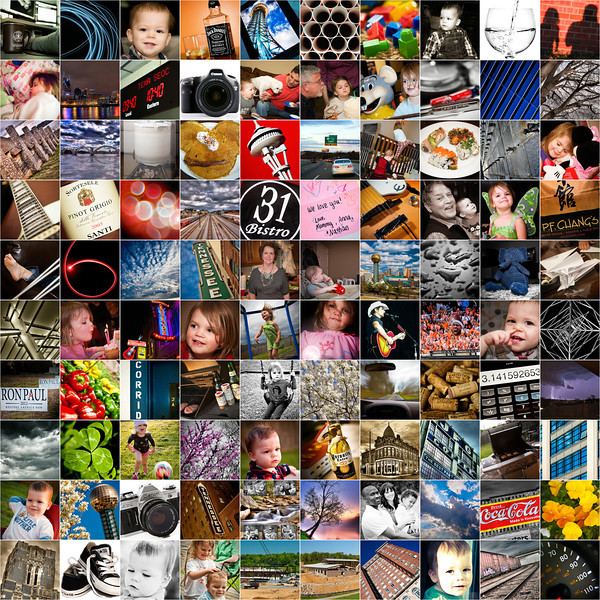April 14, 2012 - The First One Hundred Days <br /> <br /> To review the first 100 days of the project, I put together a 10x10 collage showing each day's shot.
