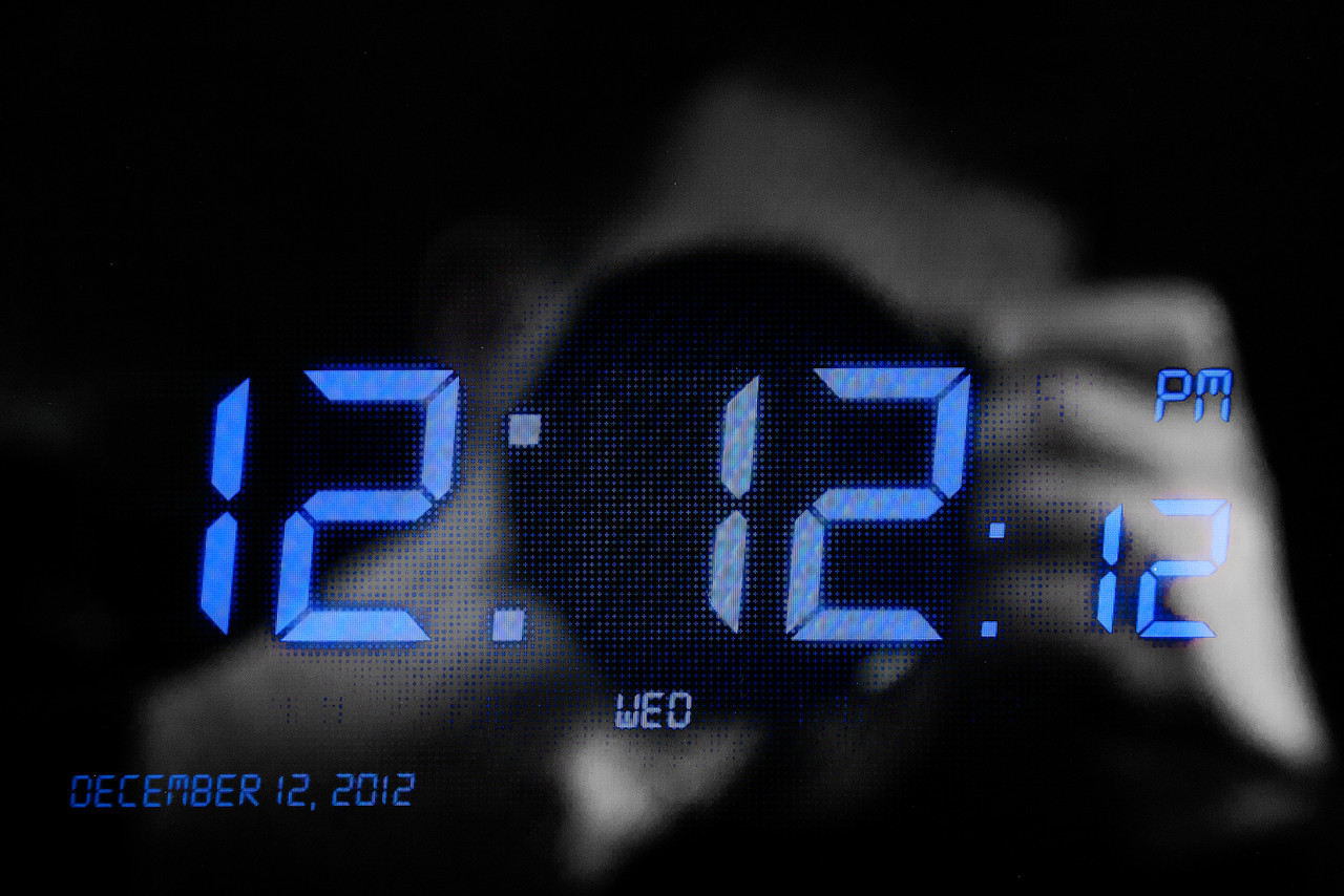 342/365 - December 12, 2012 - Twelve to the Sixth <br /> <br /> For the past several years, there has been a day in which the month, day, and year numbers match as well as a second in time that matches as well. Being that it is 2012, this is the last year in this century that this will be possible. Since I am pretty sure I won't be around in 2112 to catch the next one, I decided to make this second my photo of the day. I captured the time and date on my iPad. A bonus was capturing my reflection in the glass to add some interest to the digital readout.