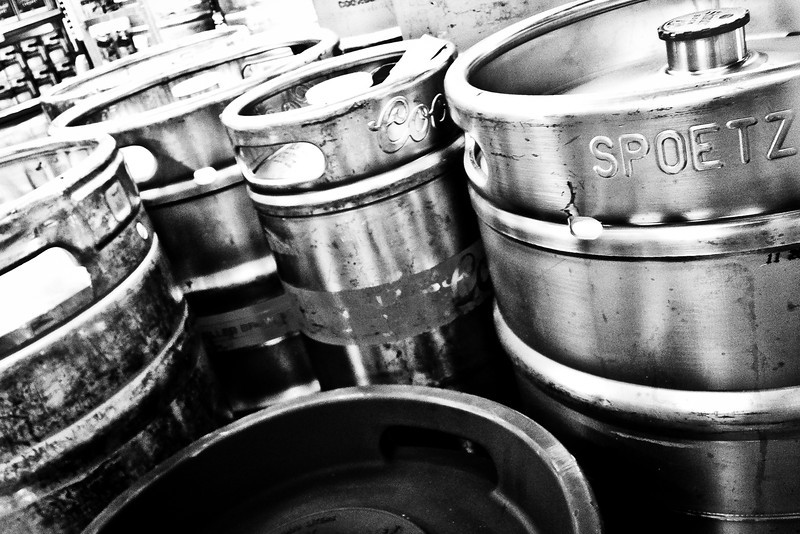 288/365 - October 19, 2012 - Kegs <br /> <br /> Tonight while picking up some tailgating groceries at Ingles, I found myself in the beer cooler for some reason.  In one corner was a stash of kegs, so I took the opportunity to take a quick photo, as I knew my opportunities would be limited the rest of the evening.