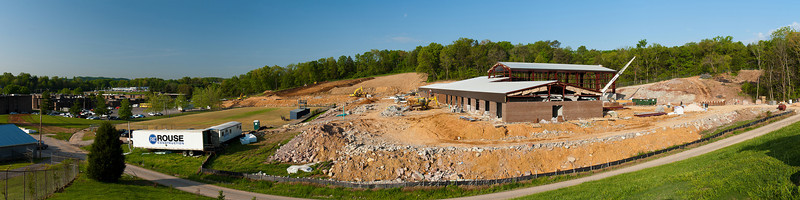 96/365 - April 10, 2012 - Construction Progress II <br /> <br /> Today I had another site visit to another school project in which I am the structural engineer.  This time it was at the new Anderson County Alternative Learning Academy, which is located on the Anderson County High School campus in Clinton.  This one is special to me since I am a 1999 graduate of Anderson County High.  The field just to the left of the construction is the football practice field, which I spent lots of time on during high school.  This project is supposed to be completed for the beginning of the 2012-2013 school year in August.