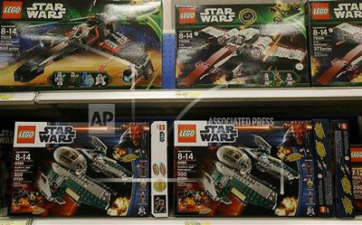 P3.5 Photo to illustrate licensing.<br /> <br /> Choice 14 of 18<br /> <br /> In this Thursday, Nov. 28, 2013, file photo, Star Wars Lego toys are displayed at a Target Store in Colma, Calif.<br /> <br /> Star Wars is released by LucasFilm Ltd.