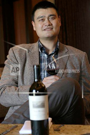 P3.9 / Yao Ming with his wine / Yao Ming Family Winery<br /> <br /> Choice 2 of 8