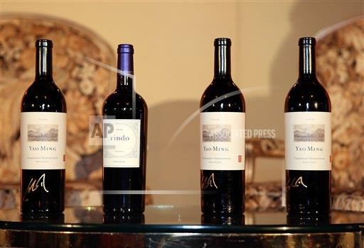 P3.9 / Yao Ming with his wine / Yao Ming Family Winery<br /> <br /> Choice 1 of 8