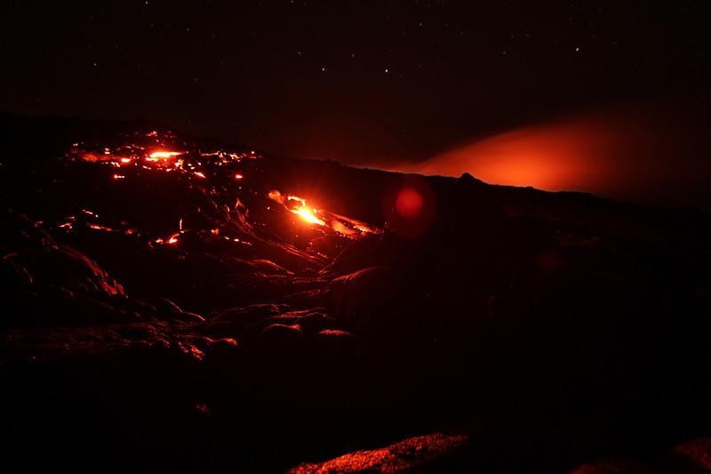 Lava flow in Volcano National Park, Hawaii