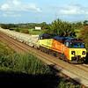 70803 6T48(ta MJ) 1827 Westbury to Bathampton v Taunton passing Berkley Marsh 15 aug