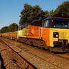 70802 tnt 70807 6c22 1720 Westbury Down TC to Largin pass Blatchbridge Jn 12 Sept