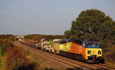 70807 70808 6c00 1530 eastleigh yard to st erth passing the k gen hotspot(berkley marsh) 10 sept.