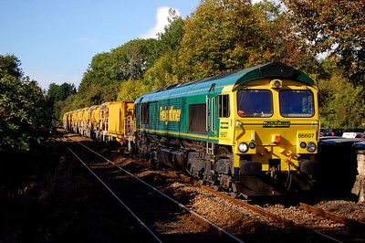 66607 6c84 0920 fairwater yard to westbury VQ pass bradford on avon 7 oct.bye bye to that shot till next year