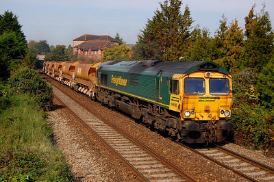 66618 6y63 1036 goring & streatley to westbury pass the cage 28 sept.my collection here is getting bigger!!!!