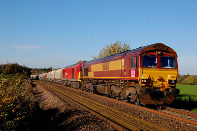 66168 6m20 0819 whatley to st pancras at fairwood crossing 28 oct.never seen smcm run but he did that day when told him he was coming!!!!