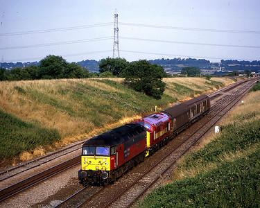 47734 leading 37410 on 6c92 1305 bridgwater to newport adj pass pilning 15 july