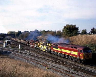 56081 on 1025? westbury to newport adj engineers passing hawkeridge junc 15 oct