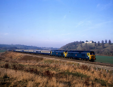 50031 50049 1z50 1144 bristol temple meads to bristol temple meads v westbury and exeter photographed passing Newton Meadows 18 dec
