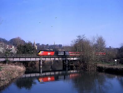 43158 leading 1s69 0830 plymouth to edinburgh pass bradford on avon 16 march