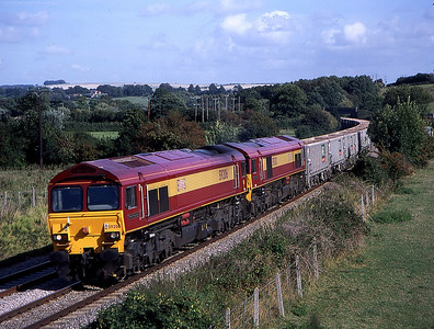59206 59202 6c77 1240 acton yard to merehead pass great cheverell 19 sept.this was as a result of lizard's first post on the excellent GWGen