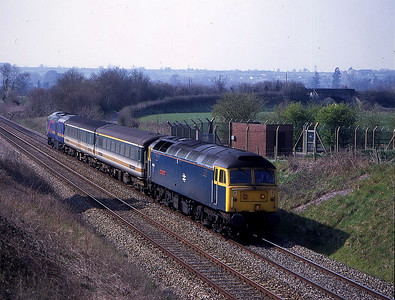 47840 with 43010 on back on 5f70 laira to old oak common on westbury avoider 2 april