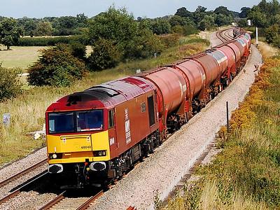 60040 6b33 1315 theale to robeston passing shrivenham concrete bridge 14 aug 2008
