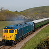 50035 1000 Norden to Swanage pass Corfe Common 6 May 2016
