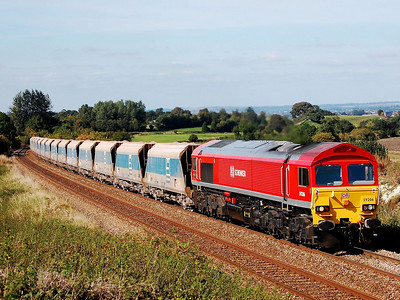 59206 7o40 merehead to eastleigh at upton scudamore 11 sept
