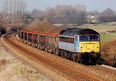 47818 emily 6z18 1305 gloucester to eastleigh at upton scudamore 20 march