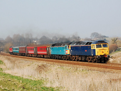 47843 47853 47769 5z72 0830 crewe hs to eastleigh at upton scudamore 19 march