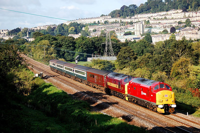 37670 37401 2o72 0909 bristol to weymouth at bathampton junc 5 sept