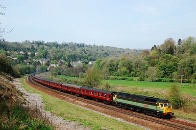 47851 5z43 1252 bath to westbury ecs passing freshford 23 april