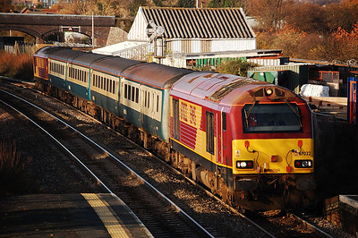 67022 67016 1400 cardiff to taunton slowing for patchway 20 nov