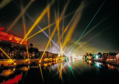 Laser Show over the River - Spectacle laser