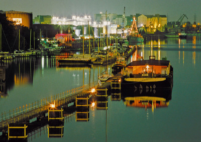 River Harbour at Night - Le Port de Bruxelles