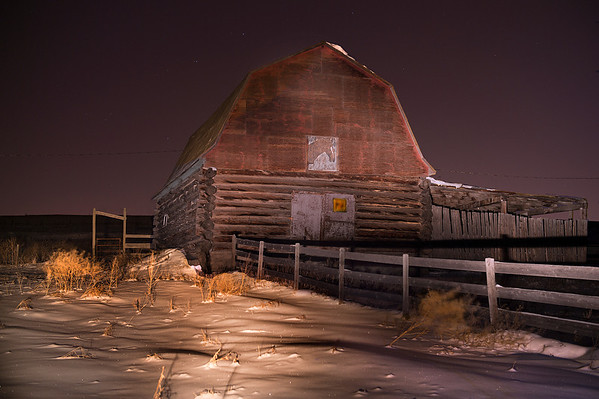 Old log barn.