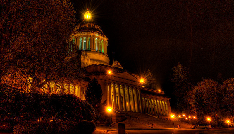 Olympia State Capitol at Night