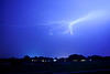 Lightening during a monsoon storm in Prescott Arizona
