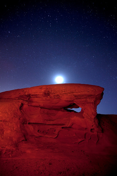 Moon over Red Rock