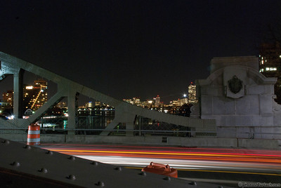 The view of the city from the BU Bridge @ Night - 1