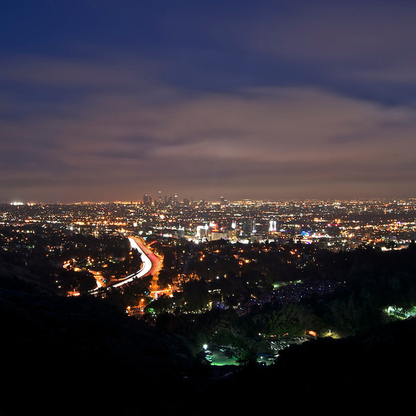 View of LA from Mulholland Drive