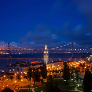 Embarcadero at night