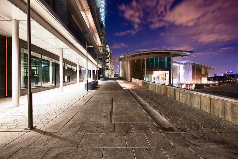 Nattfoto på Tjuvholmen