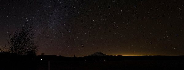 December Sky Over Mt. Adams (2 Photo Panorama)