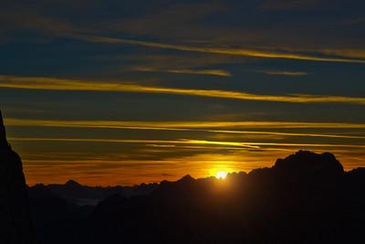 Lagazuoi Sunrise (8 Photo HDR)