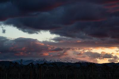Colorful Clouds Masking Mt Hood
