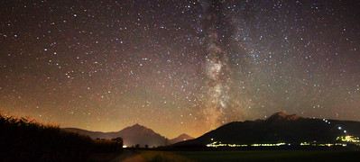 Igles & Milky Way (2 Photo Stitched Panorama)